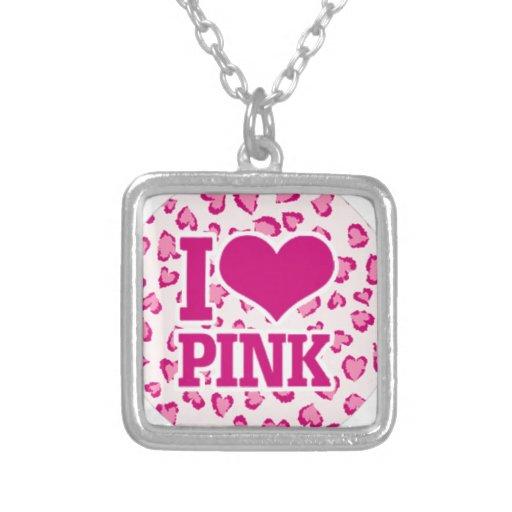 amo rosa colgante cuadrado