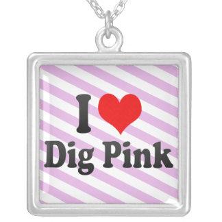 Amo rosa del empuje grimpola personalizada