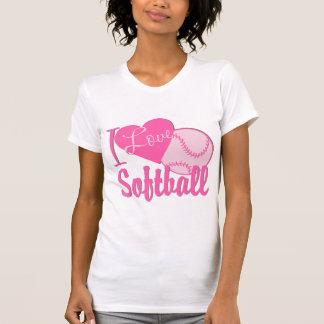 Amo rosa del softball polera