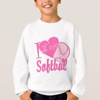 Amo rosa del softball poleras