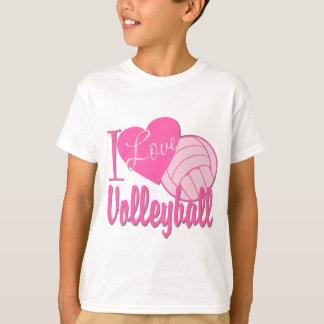 Amo rosa del voleibol playera