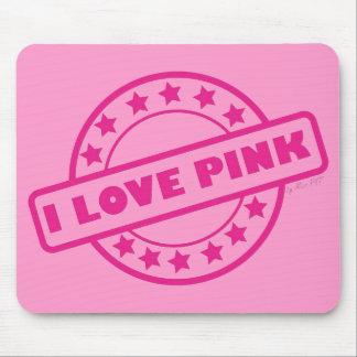 Amo rosa tapete de raton