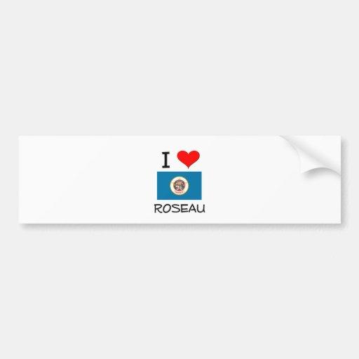 Amo Roseau Minnesota Etiqueta De Parachoque