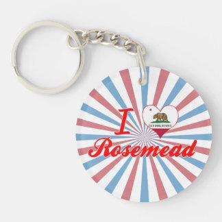Amo Rosemead, California Llavero Redondo Acrílico A Una Cara