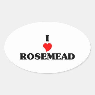 Amo Rosemead Pegatina Ovalada