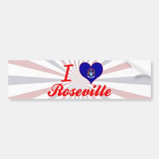 Amo Roseville, Michigan Pegatina De Parachoque