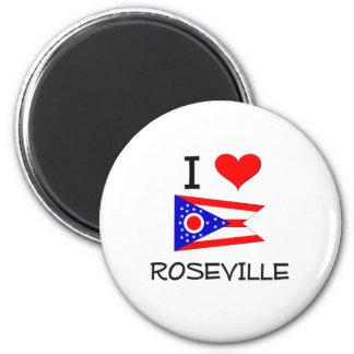 Amo Roseville Ohio Imán Redondo 5 Cm