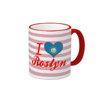 Amo Roslyn, Dakota del Sur Taza A Dos Colores
