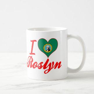 Amo Roslyn, Washington Taza Básica Blanca