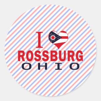 Amo Rossburg Ohio Pegatinas Redondas