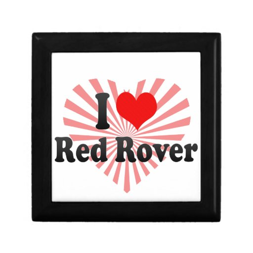 Amo Rover rojo Joyero Cuadrado Pequeño