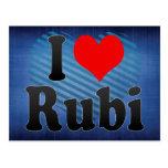 Amo Rubi, España. Yo Encanta Rubi, España Postales