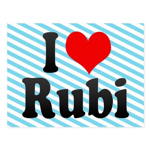 Amo Rubi, España. Yo Encanta Rubi, España Tarjetas Postales
