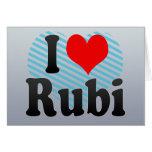 Amo Rubi, España. Yo Encanta Rubi, España Tarjetas