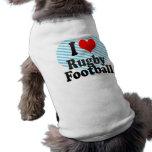 Amo rugby camisas de mascota