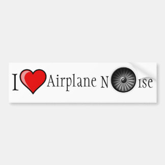 Amo ruido del aeroplano pegatina para auto