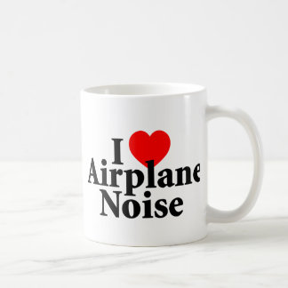 Amo ruido del aeroplano taza de café