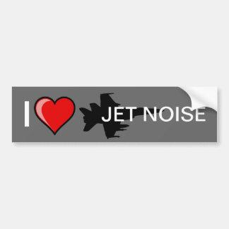 Amo ruido del jet pegatina de parachoque