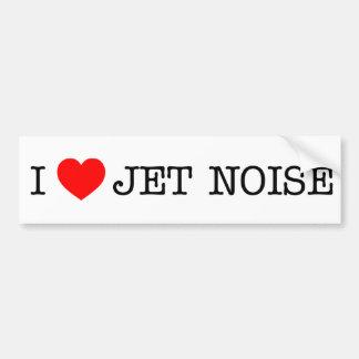 Amo ruido del jet etiqueta de parachoque