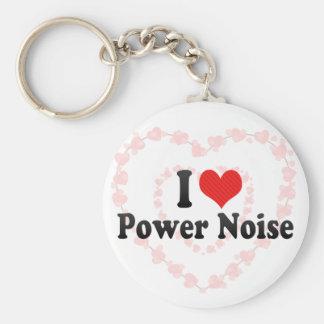 Amo ruido del poder llavero personalizado