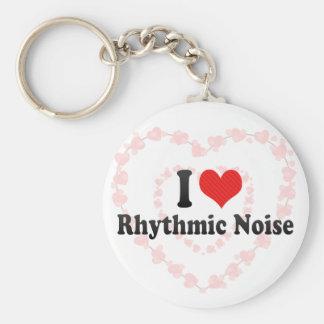 Amo ruido rítmico llaveros