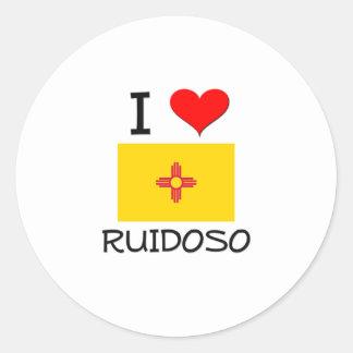 Amo Ruidoso New México Etiquetas Redondas