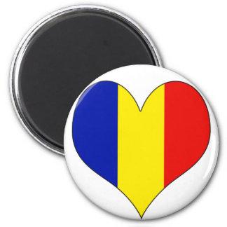 Amo Rumania Imán Redondo 5 Cm