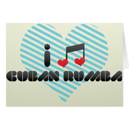 Amo rumba cubana tarjeta