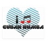 Amo rumba cubana tarjeta postal