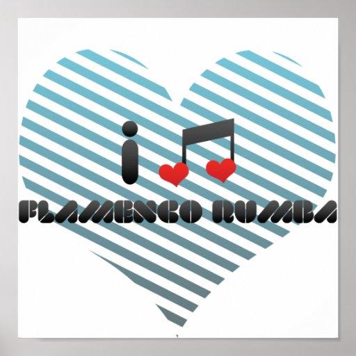 Amo rumba del flamenco póster