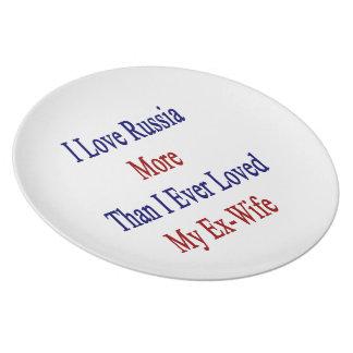 Amo Rusia más que amé nunca a mi ex esposa Platos De Comidas