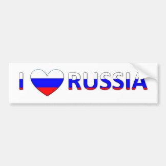 amo Rusia Pegatina Para Auto