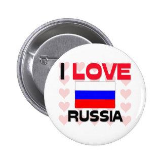 Amo Rusia Pin Redondo De 2 Pulgadas