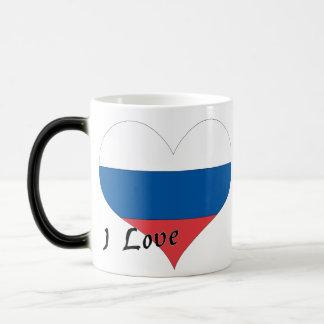 Amo Rusia Taza Mágica