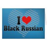 Amo ruso negro tarjetón