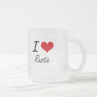 Amo rústico taza de cristal