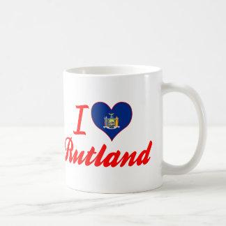 Amo Rutland, Nueva York Taza De Café