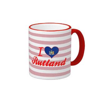Amo Rutland, Nueva York Taza