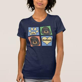 Amo sabuesos camiseta