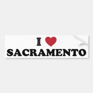Amo Sacramento California Etiqueta De Parachoque