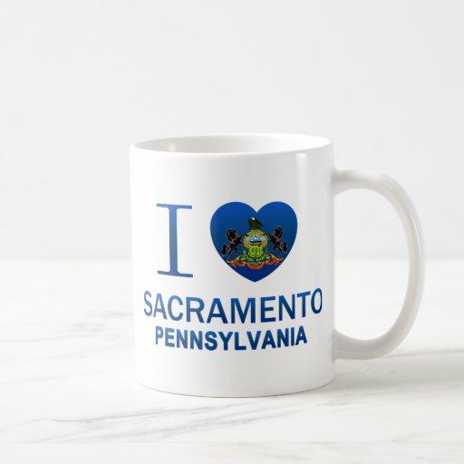 Amo Sacramento, PA Taza Básica Blanca