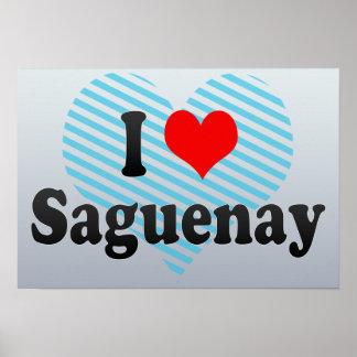 Amo Saguenay Canadá Posters