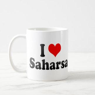 Amo Saharsa, la India. Mera Pyar Saharsa, la India Taza Básica Blanca