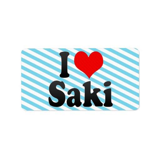 Amo Saki, Nigeria Etiqueta De Dirección