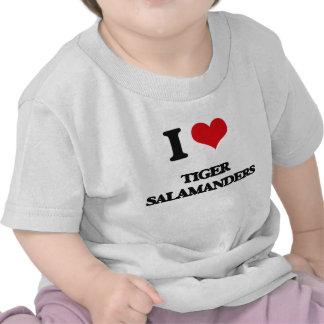Amo Salamanders de tigre Camisetas
