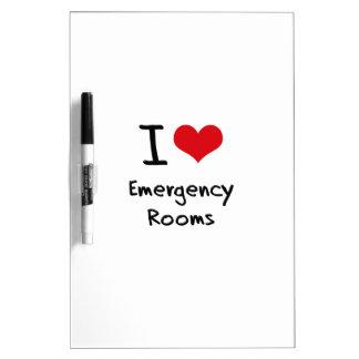 Amo salas de urgencias pizarras