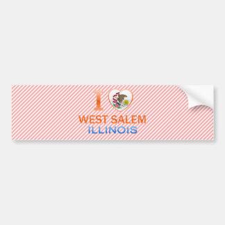Amo Salem del oeste IL Etiqueta De Parachoque