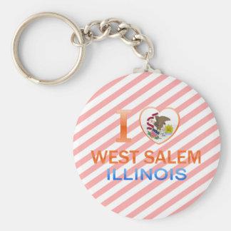 Amo Salem del oeste IL Llavero Personalizado