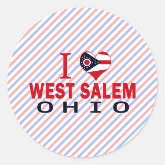 Amo Salem del oeste Ohio Etiqueta Redonda