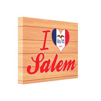 Amo Salem, Iowa Lienzo Envuelto Para Galerias